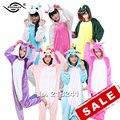 Shineye azul/rosa pegasus/unicornio unisex franela con capucha pijamas pijamas adultos cosplay animal lindo de la historieta onesies ropa de noche fija