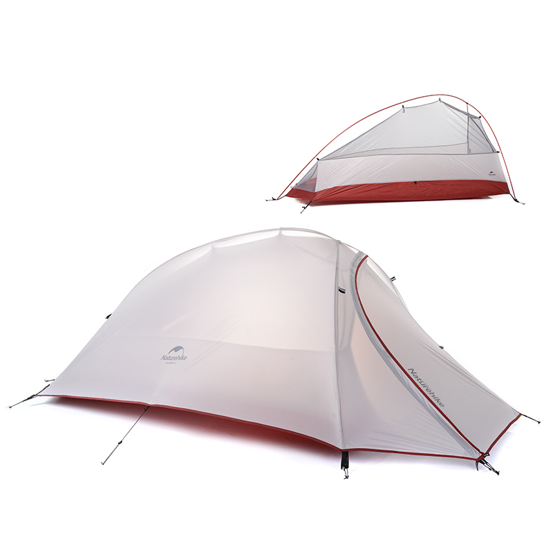 NatureHike 1 Person Tent Double-layer Camping Tent Lightweight 4 seasons Tent NH15T001-T outdoor camping hiking automatic camping tent 4person double layer family tent sun shelter gazebo beach tent awning tourist tent