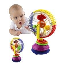 Baby Rattle Toys Триколор сенсорный Вращающийся Колесо обозрения Присоски Игрушки 0-12 Месяцев Новорожденных Творческих Образовательных Ребенка toys