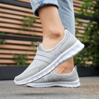 Women Sneakers tenis casual feminino casual shoes Woman Flats Slip on Splice ladies shoes Black Gray Blue Plus Size 40 41 42 1