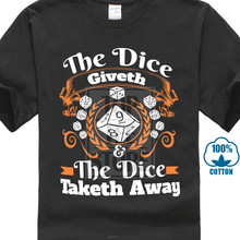 15c4019f Dungeons And Dragons Shirt Dnd Shirt D&D Shirt The Dice Giveth  Premium(China)