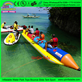 6 person custom color single tube cheap inflatable boat,banana boat agua inflatable,fishing kayak motor boat