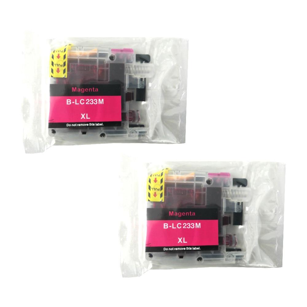 Картриджи чернильные пурпурные 2PK LC233XL для принтеров Brother DCP-J562DW J4120DW MFC-J480DW J680DW J880DW J4620DW J5720DW J5320DW