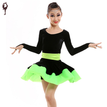 2016 Latin Dance Dress For Girls Ballroom Dancing Kids Dance Costumes Girls Clothes Flamenco Skirt Clothing Samba Dresses