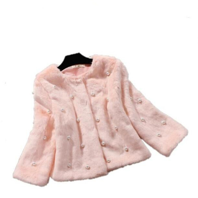 2019 New Fashion Winter Clothing Imitation Fur and Mink Hair Sweet and Short Jacket Women Coat Pedicure of Rabbit Fur Fur Coats