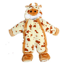 Baby animal cow leotard newborn baby bear coat thick winter bag feet climb clothes sleeping clothes baby Romper clothes