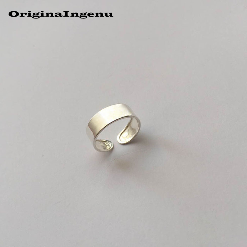 Jewelry 925 Silver Rings Mujer Charm Vintage Minimalism Adjustable Girlfriend Mother 's <font><b>Day</b></font> Gift Anillos Rings For Women image