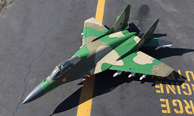 Escala KIT EPS Avión MIG29 Skyflight Verde Doble 70 MM FED Vector RC Modelo de Avión