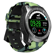 Camo Barometer Smartwatch Female Male Internet Smart Watches Andriod Ios Heart Rate Cycling GPS Watch Activity Tracker MTK2503