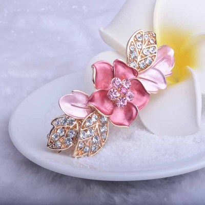 hairpin top clamp plate spring clip ponytail hair Brooches card Cat Eye Stone silver Popular Drip Badge Pin Suit