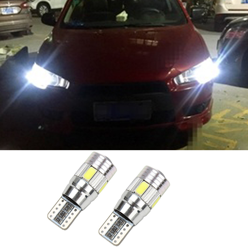 цена на For Mitsubishi Asx Lancer 10 9 Outlander Pajero Sport Colt Carisma Canbus L200 W5W T10 5630 SMD Car LED Clearance Parking Light