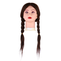 18 Hairdressing Training Mannequin Practice Head 100 Real Hair Brown Long Human Hair For Hairdresser Training