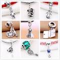 Solid 925 Sterling Silver artist's palette pendant charm boy and girl dangle pandora charms silver 925 original jewelry bracelet