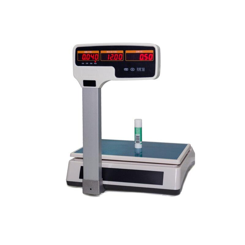 Высокая емкость Электронные цифровые весы с поддержкой чекового принтера Многоязычная печать - 5