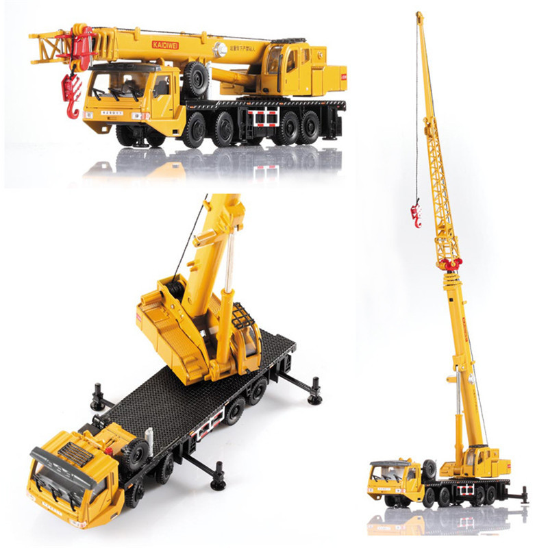 Diecast Crane model boys toy car Alloy Engineering Vehicle Handling Manipulator Arm Telescopic Boom Car Model Toys for children free shipping alloy engineering vehicle model 1 87 tower cable car crane toy original factory simulation children