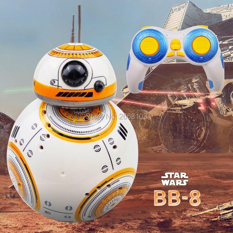 Entrega rápida actualización modelo Star Wars RC BB-8 Droid Robot BB8 bola Robot inteligente niño regalo de juguete con sonido 2,4G Control remoto