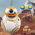Envío rápido mejora modelo Star Wars RC BB-8 Robot Droid BB8 Ball Robot inteligente chico juguete regalo con sonido 2,4G Control remoto