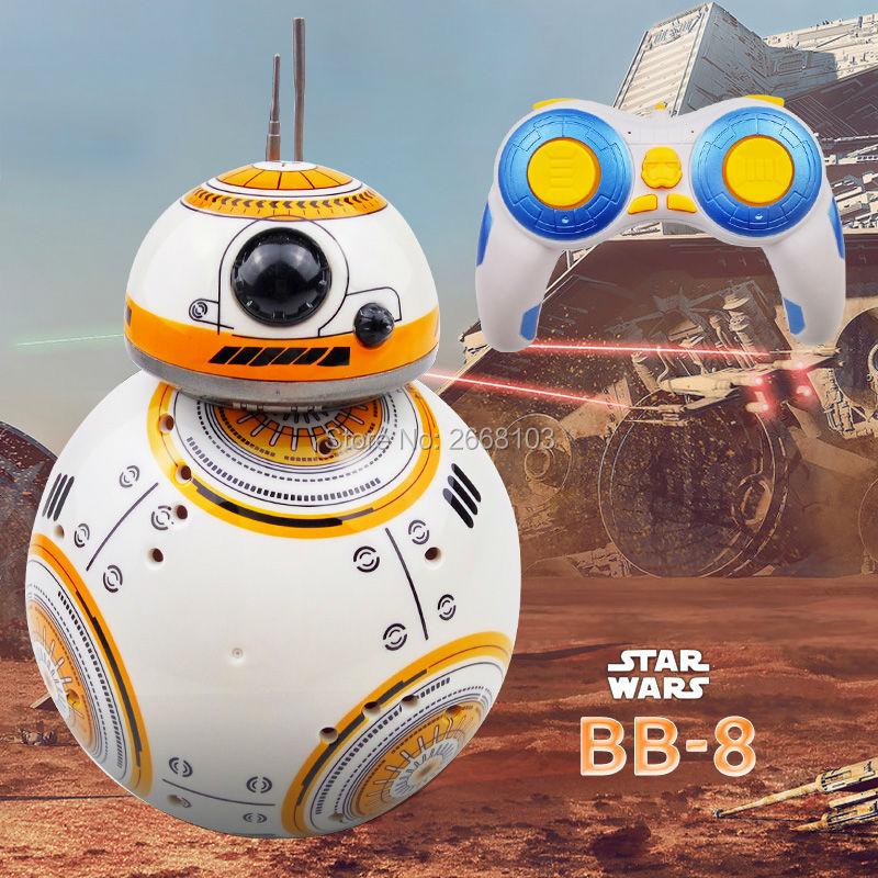 Snelle levering Upgrade Model Star Wars RC BB-8 Droid Robot BB8 Ball Intelligent Robot Kid Toy Gift Met Geluid 2.4G Afstandsbediening
