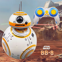 Modelo de actualización de entrega rápida Star Wars RC BB-8 Robot Droid BB8 bola Robot chico juguete regalo con sonido 2,4G Control remoto