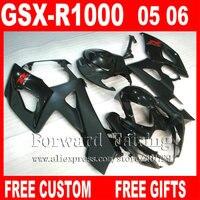 Fairings set for SUZUKI GSXR 1000 fairing kit 2005 2006 K5 matte gloddy black Injection molded GSXR1000 05 06 body kits HG71