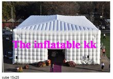 House Structure Inflatable Cube Tent White