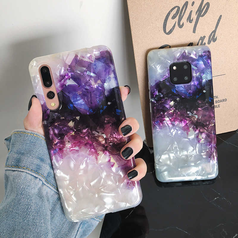 Shell texture Phone Cases for Huawei P20 P30 Pro Mate 20 Pro Amethyst cover For Honor 9 10 Nova 3 3i 4 back fundas cases