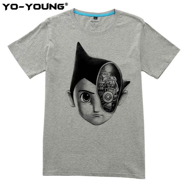 5c803621b9949b Anime Super Robot Astro Boy T Shirt Design Men T Shirts Digital Printing  100% Cotton Casual T-shirts Short Sleeve Customized