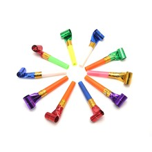 10Pcs Blowers Blowouts Whistles Birthday Noisemaker Kid Toy Party Supplies W-store Sep11_A(China)
