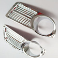 Fit Russian For Nissan Almera G15 2012 2014 2015 Front Rear Fog Light Lamp Cover Trim ABS Chrome car accessories  Free shipping