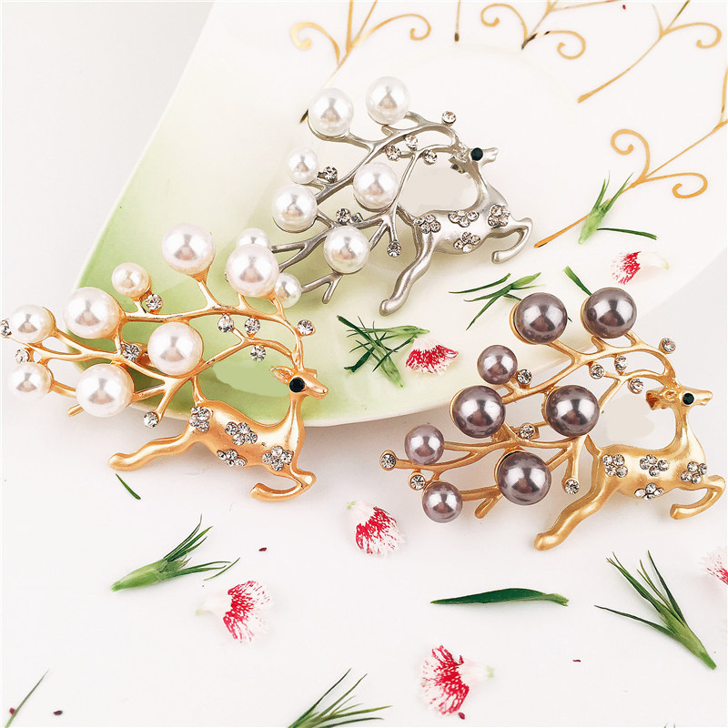 6pcs/lot Christmas Deer Napkin Rings Silver / Gold Alloy Napkin Buckle Napkin Buckle Hotel Wedding Party Table Decoration
