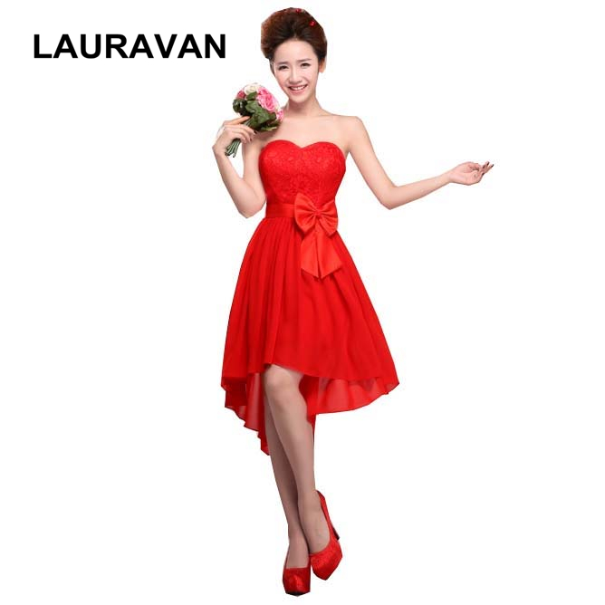 Special Occasion Latest Formal Cheap Sexy Adult Chiffon High Fashion High Low Bridesmaid Dresses Sleveless Dress 2019 With Bow