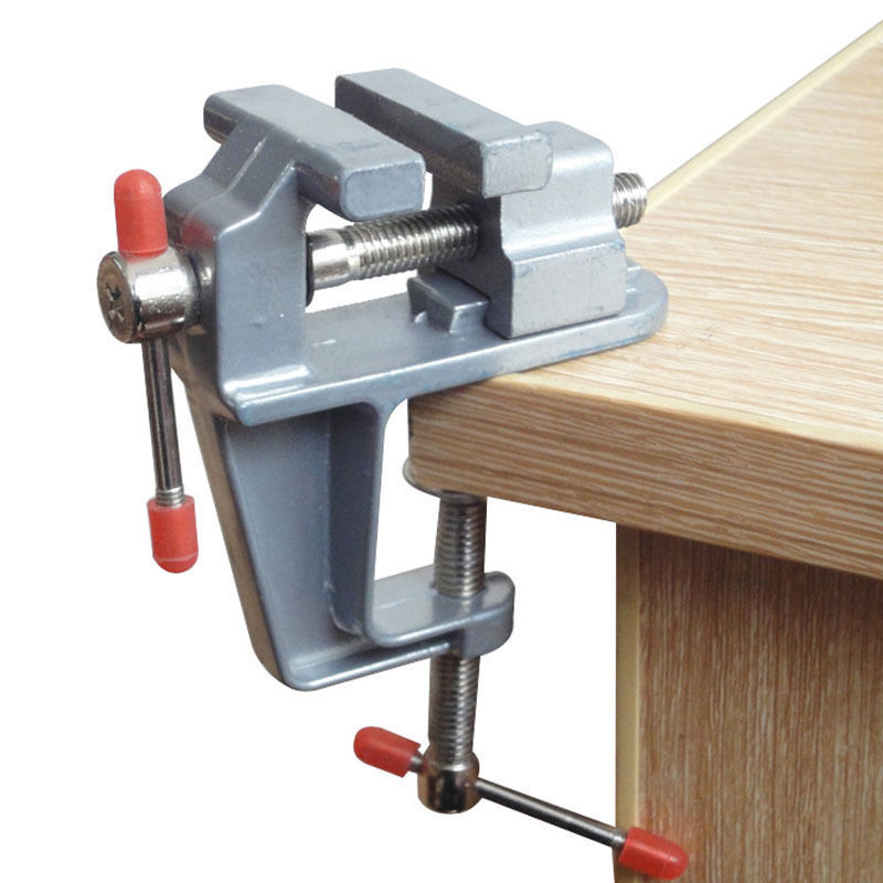 Aluminum Jewelers Hobby Clamp On Table Bench Vise Clamp Swivel Rotated Hobby Craft Repair Tool Holder DIY Hand Tools free shipping aluminum alloy table vice mini bench vise diy tools swivel lock clamp vice craft jewelry hobby vise jaw width 40mm