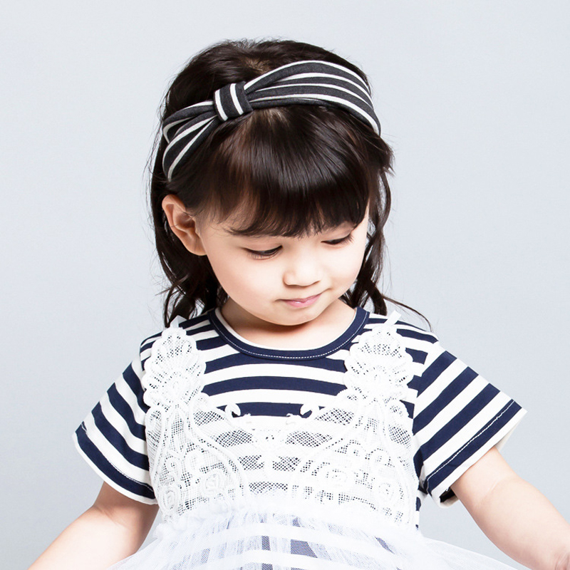 New Girls Hair font b Accessories b font Top Quality Lovely Headband Bowknot Cotton material Sweet