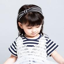Novos Acessórios para o Cabelo Meninas Qualidade Superior Lindo Headband Bowknot Algodão material BB Doce headwear Crianças Cabeça HeadBands do Estiramento