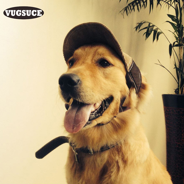 VUGSUCE Breathable Pet Dog Hat Adjustable Baseball Cap Windproof Travel Sports Hats for Small Large Dogs Headwear Pet Supplies