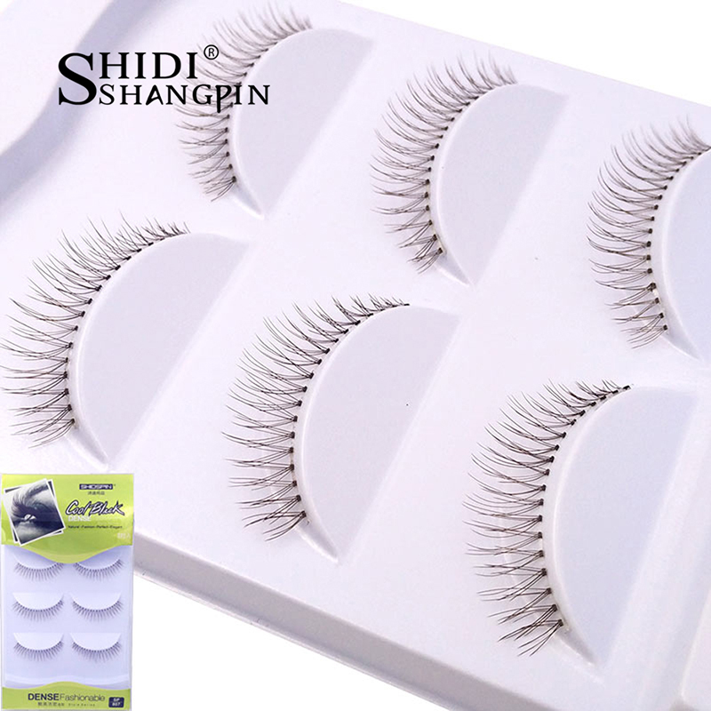 SHIDISHANGPIN False Eyelashes 3 Pairs Emulation Trios Transparent Synthetic Hair Fake Eye Lashes Fake Artificial Wimpers Eyelash ...