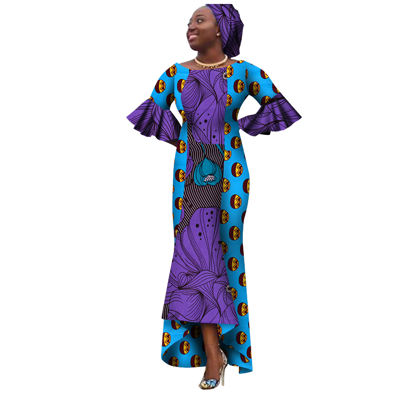 2018 riche bazin african dresses for women O Neck long ankle length dress dashiki plus size
