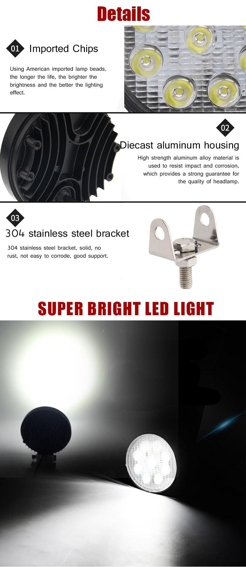 de luz 4 polegada conduziu a luz