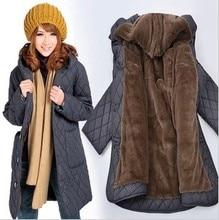 ГОРЯЧАЯ ПРОДАЖА!! 2016 зимнее пальто Корейской леди пальто куртка длинные плюс размер женщин элегантный зимняя куртка женщин