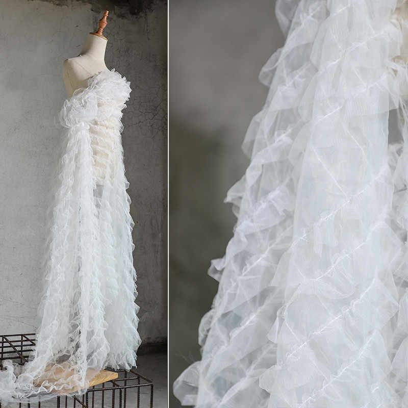Vestiti Da Sposa Fai Da Te.Lac93 1 2 Yard Bianco Onda Creativo 3d Da Sposa Vestito Da Partito