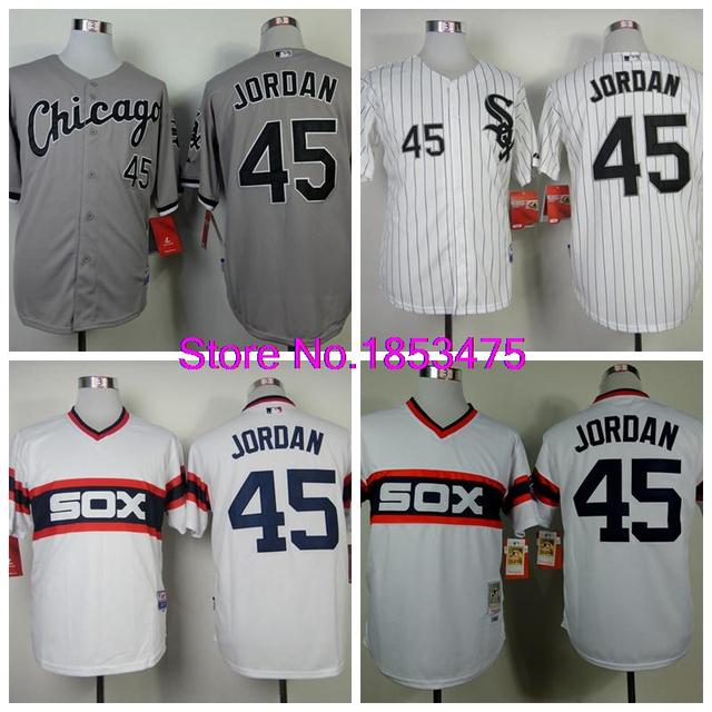 450de09be85 Top Quality Mens Chicago White Sox Jerseys #45 Michael Jordan Throwback  Baseball Jersey,All Name Number Stitched,Mixed Orders