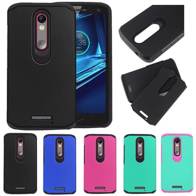 Hybrid Dual Layers Shockproof Matte Armor Hard Case For Motorola Moto X Force Droid / Turbo 2 XT1585 Cover Cases Shell Skin