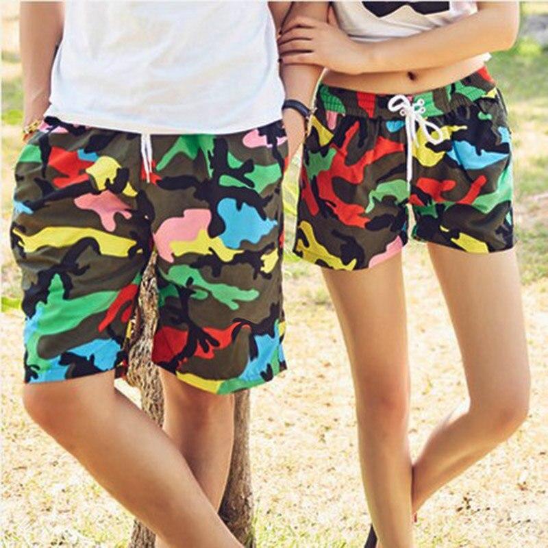 Pereche de perete Shorts Costume de baie Quick Dry Camuflaj Costume de baie Sport Plaja Surf Scurt femei Lovers Plaja scurta Beach Shorts barbati
