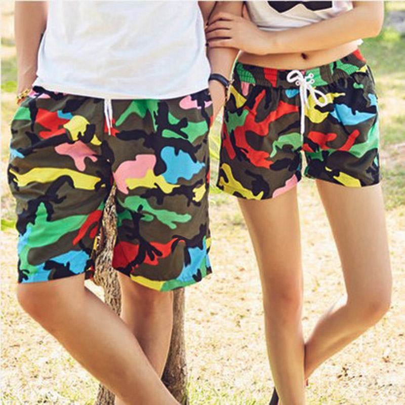 Couple   Board     Shorts   Swimwear Quick Dry Camouflage Swimsuits Sports Beach Surf   Short   Women Lovers Swim Beach   Shorts   Men Trunks