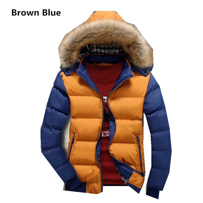 New 2017 winter jacket men casual warm thick cotton-padded jacket men winter Hooded raccoon fur coat teenagers cotton coats