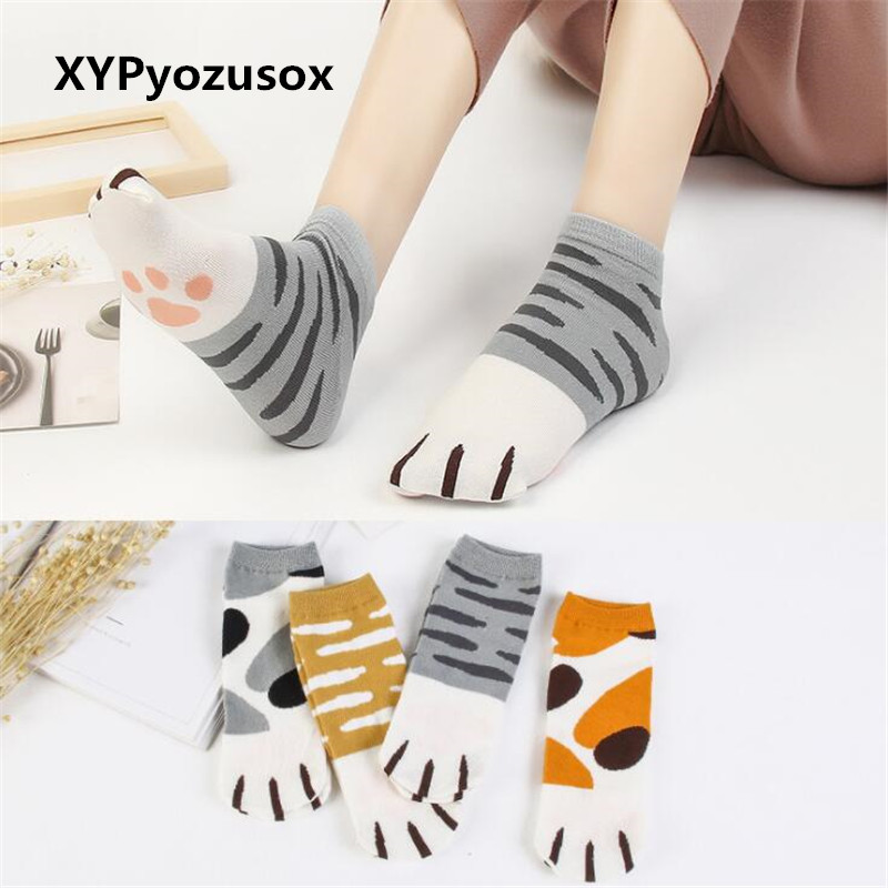 Fashion Kawaii Cotton Socks Cute Cats Kitty Claws Ankle Short Socks For Lady Girls Summer Spring Cartoon Funny Paw Socks Women
