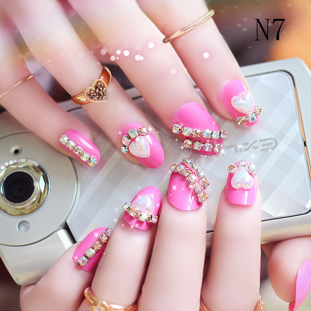 Aliexpress buy datingday 24pcs french pre design beautiful datingday 24pcs french pre design beautiful 3d false nails tips fake nail french nail art tips prinsesfo Image collections