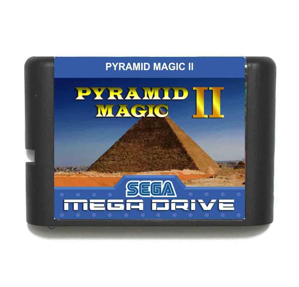 Pyramid Magic 2 MD 16 bit Game Card For Sega Mega Drive For Genesis
