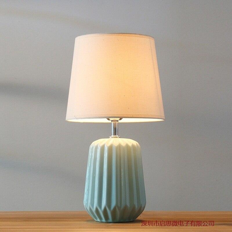 Nouveau Style nordique minimaliste lampe de table e27 titulaire céramique lampe de Table salon chambre rétro lampe de chevet moderne bureau