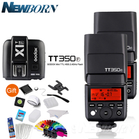 2 XGodox FlashSpeedlite TTL TT350F Alta Velocidad 1/8000 s GN36 2 4G sistema inalámbrico X + disparador de transmisor x1T-F Kit para Fuji Fujifilm